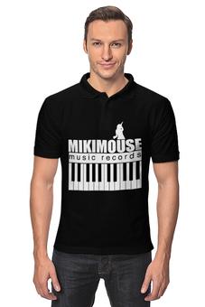 "Рубашка Поло ""MIKIMOUSE music records "" - музыка, dj, миккимаус, клубная, музыкант"