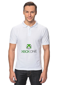 "Рубашка Поло ""XBOX ONE"" - игры, фанаты, геймеры, приставки, консоли"