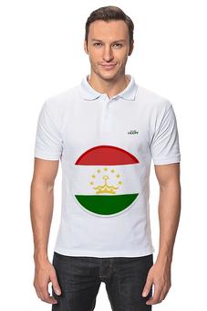"""Рубашка Поло """"Флаг Таджикистана"""" - арт, таджикистан, флаг"""