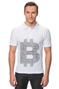"""Рубашка Поло """"Крипто-стиль белый фон"""" - bitcoin, bitcoin shop, стиль биткоин, одежда биткоин, футболка биткоин"""