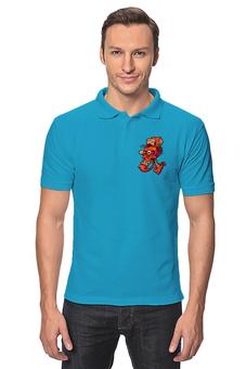 """Рубашка Поло """"Череп весёлый арт"""" - skull, череп, прикол, арт, дизайн"""