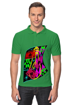 "Рубашка Поло ""Лапочка,"" - стиль, рисунок, лампочка"
