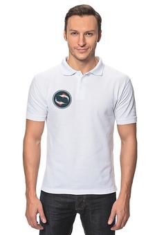 "Рубашка Поло ""Рыба-Парусник"" - морской, рыба, рисунок, море, океан"