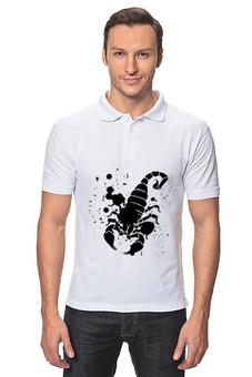 """Рубашка Поло """"Скорпион (24.10-21.11)"""" - крутой, оригинальный, стильный, скорпион, биология"""