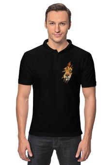 """Рубашка Поло """"Лев ( Lion)"""" - животное, хищник, царь зверей, лев, lion"""
