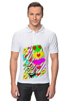 """Рубашка Поло """"Воздушные поцелуи."""" - поцелуи, рисунок, стиль"""