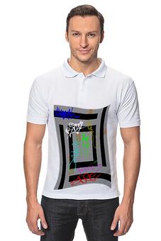 """Рубашка Поло """"Граффити."""" - стиль, граффити, город, надписи, стены"""