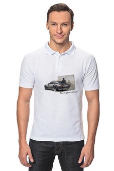 """Рубашка Поло """"Lamborghini Miura"""" - арт, авторские майки, спорт, стиль, рисунок"""
