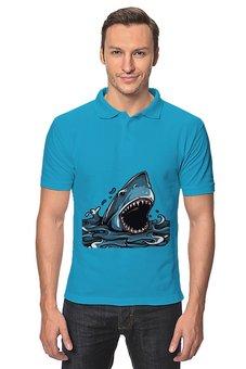 "Рубашка Поло ""Акула"" - акула"