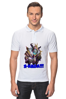 "Рубашка Поло ""Череп- имба"" - череп, битва замков, имба"