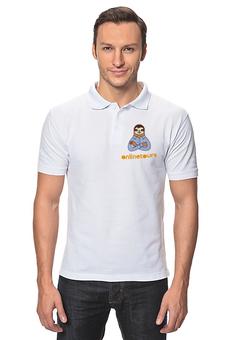 """Рубашка Поло """"Be на море"""" - туризм, ленивец"""