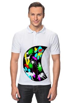 """Рубашка Поло """"Музыкальный зоопарк."""" - стиль, паук, зоопарк"""