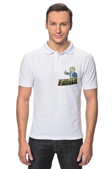 """Рубашка Поло """"Vault boy"""" - fallout, vault boy, волт-бой"""