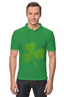 "Рубашка Поло ""Без названия"" - клевер, ирландия, день святого патрика, st patrick day, st patricks day"