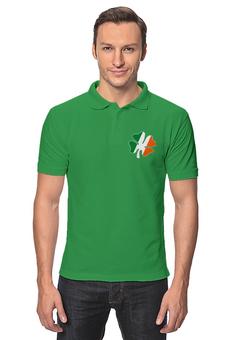 """Рубашка Поло """"Ирландский четырехлистный клевер"""" - ирландия, четырехлистный клевер, трилистник, день святого патрика"""