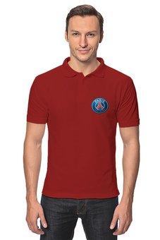 "Рубашка Поло ""Логотип ПСЖ на груди"" - футбол, париж, псж, пари сен-жермен, psg"