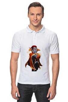 """Рубашка Поло """"Дракула- это сила!"""" - дракула, castle clash, битва замков, легендарный герой, это сила"""