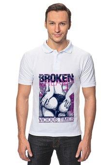 """Рубашка Поло """"broken dreams"""" - девушка, dreams, попа, broken, стринги"""