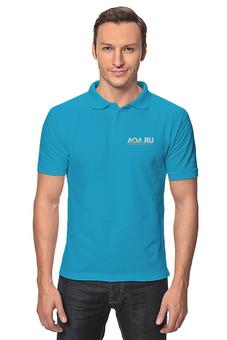 """Рубашка Поло """"AQA.ru - прозрачный мир. Черное Поло"""" - аквариум, aqa, аквару"""