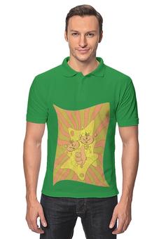 """Рубашка Поло """"Сырные кружки."""" - позитив, клево, сыр, рожицы"""