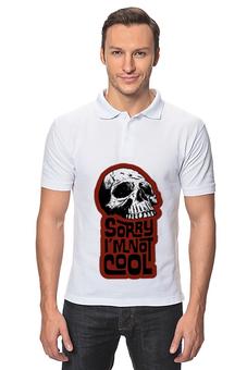"""Рубашка Поло """"Простите я не крут"""" - skull, череп, черепа, skulls, арт прикол"""
