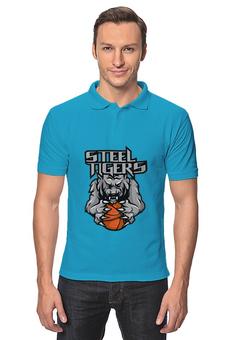 "Рубашка Поло ""Тигры"" - рисунок, тигр, фэнтэзи"