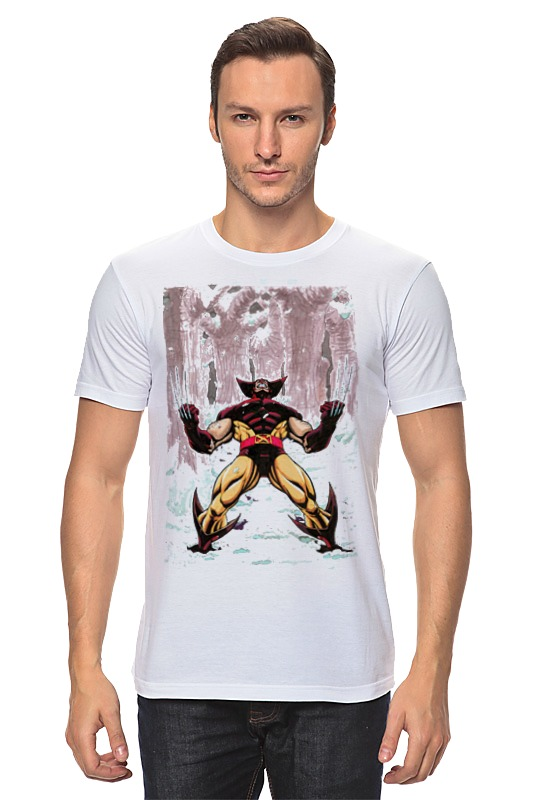 Футболка классическая Printio Wolverine. marvel http