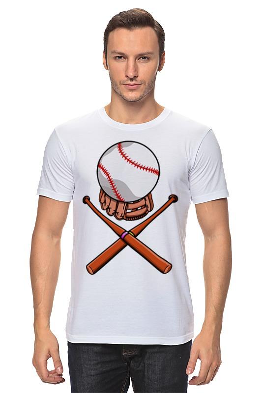Футболка классическая Printio Биты и мяч (бейсбол) цена и фото