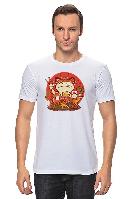 Футболка классическая Printio Кот и золотая рыбка лонгслив printio кот и золотая рыбка