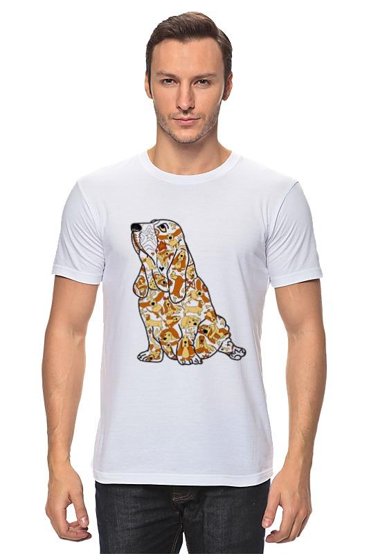 Футболка классическая Printio Смешная собака бассет купить щенкак в донецке бассет