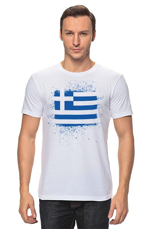 Футболка классическая Printio Греческий флаг (гранж) футболка print bar флаг азербайджана