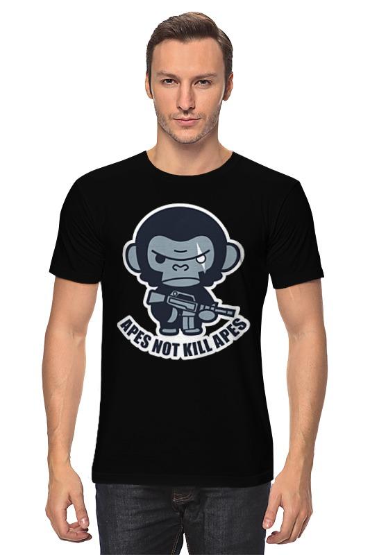 Футболка классическая Printio Обезьяны не убивают (планета обезьян) футболка с полной запечаткой для девочек printio планета обезьян planet of the apes