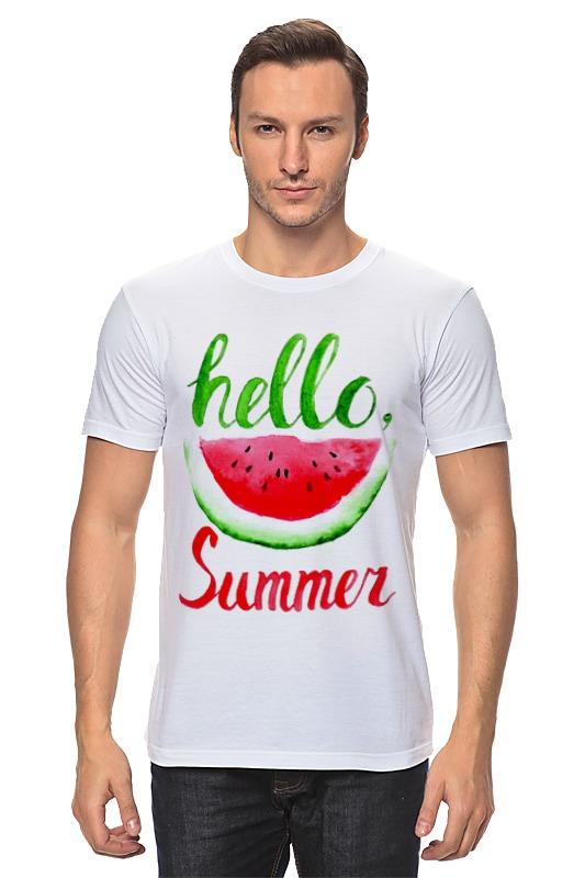 женские пляжные принадлежности Футболка классическая Printio Hello summer