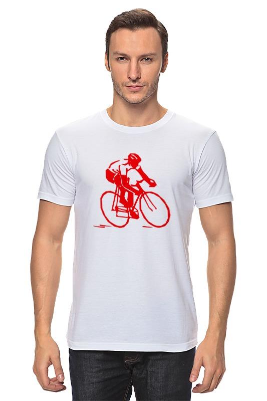 Футболка классическая Printio Велосипедист beauty women кардиган бьюти вуман lt3561 1016 черно белый s m черно белый