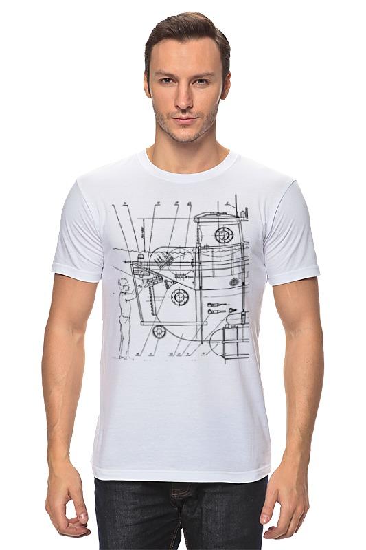Футболка классическая Printio Чертеж спускаемого аппарата блокнот printio чертеж