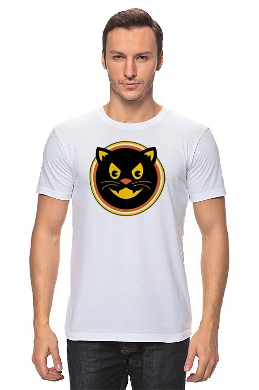 Футболка классическая Printio Черный кот цена