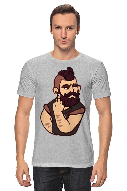 Футболка классическая Printio Bearded / бородач обложка для паспорта printio bearded бородач