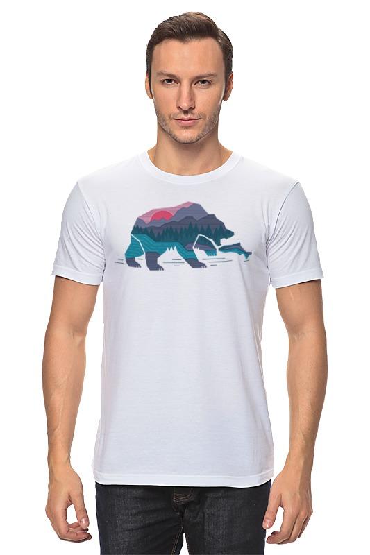 Футболка классическая Printio Медведь на рыбалке цена 2017