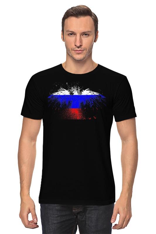 Футболка классическая Printio Флаг россии футболка print bar флаг азербайджана