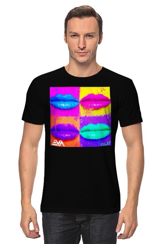 Футболка классическая Printio Pop lips блеск для губ thebalm read my lips™ pop цвет pop variant hex name fd6743