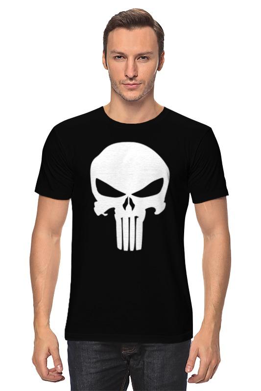 Футболка классическая Printio Череп карателя худи print bar футболка с логотипом карателя