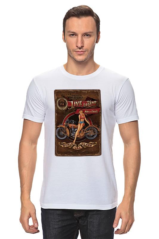 Футболка классическая Printio Мотоциклы, винтажный постер. калиновъ лимонадъ винтажный лимонад тархун 0 5 л