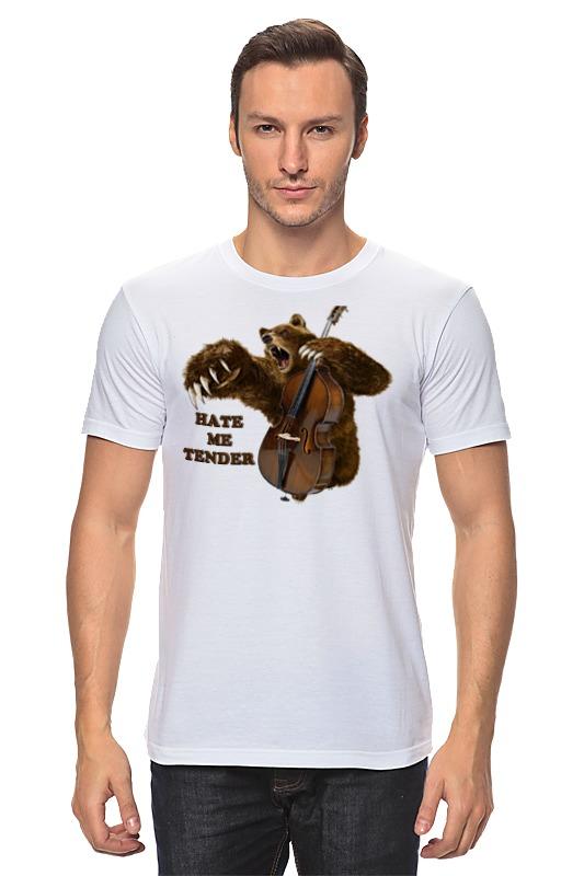 Футболка классическая Printio Мишка контрабасист футболка для беременных printio мишка me to you