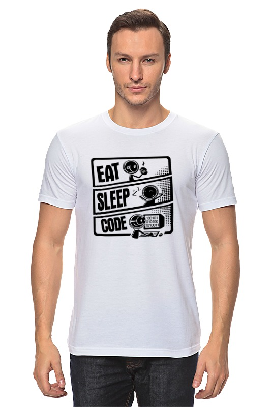 Футболка классическая Printio Eat, sleep, code eat dirt
