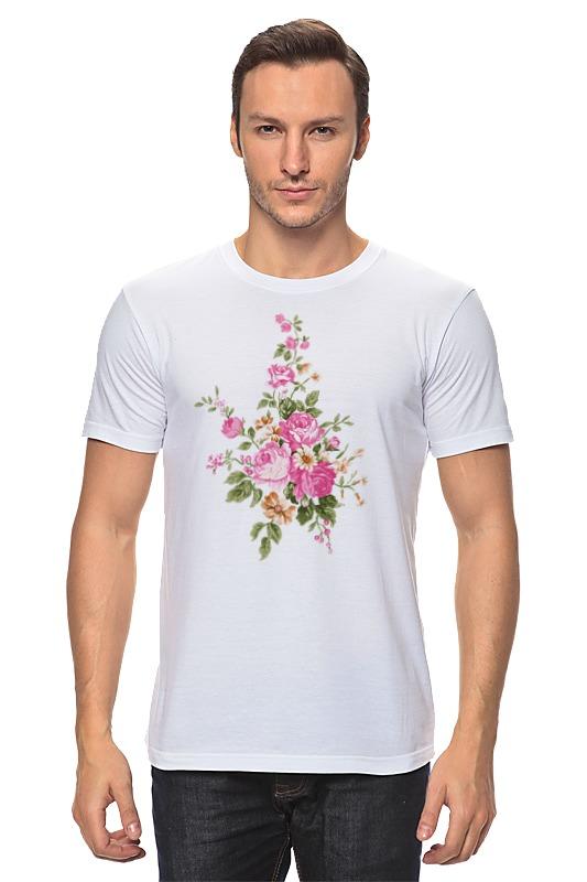 Футболка классическая Printio Розовый букет футболка miamoda klingel цвет белый розовый полоска