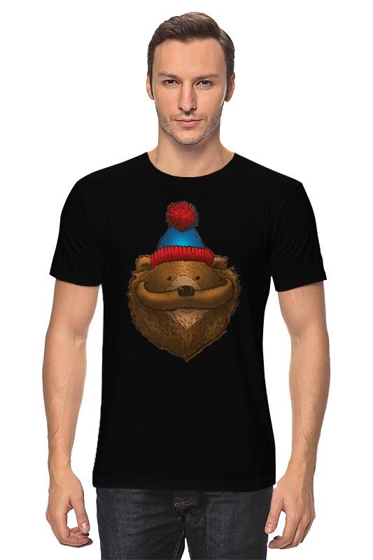 Футболка классическая Printio Медведь с усами