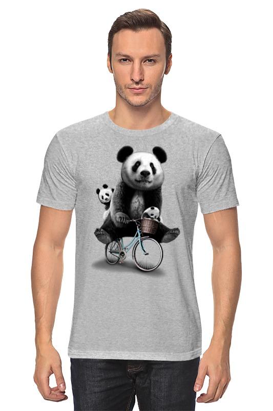 все цены на Футболка классическая Printio Панда на велосипеде онлайн