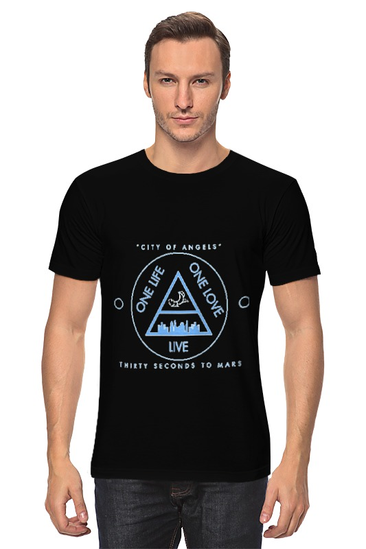 Футболка классическая Printio City of angels - 30 seconds to mars детские штаны city of angels and children s clothes 1501 28 2015