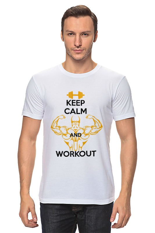 Футболка классическая Printio Keep calm and workout спот citilux cl531521