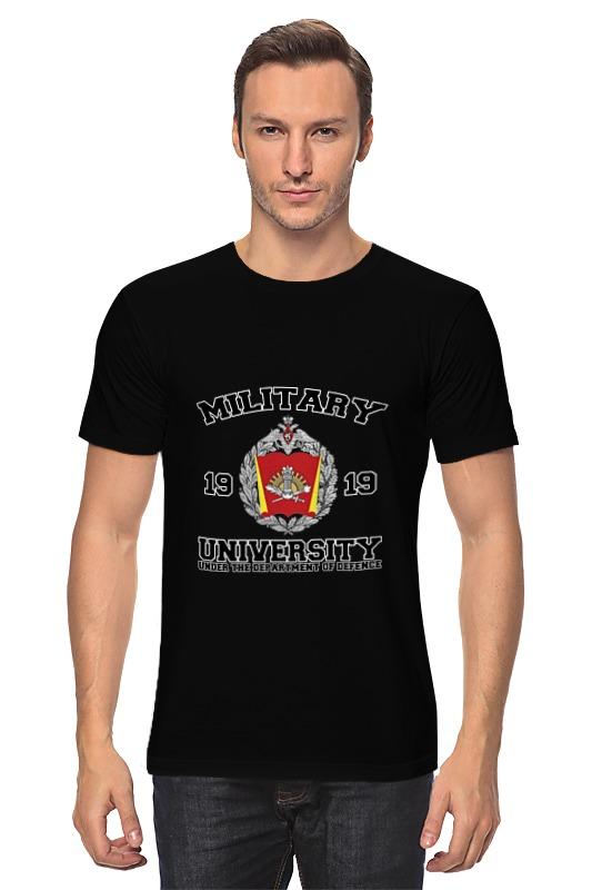 Футболка классическая Printio 2016 военный университет мо рф (черная)